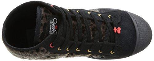 Le Temps des Cerises , Baskets mode femme Noir (Leopard Cloute)