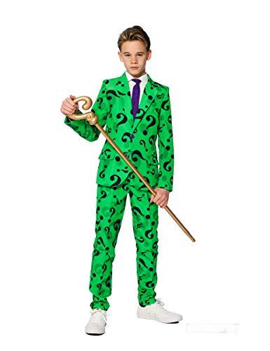 Generique - Mr. Riddler-Opposuits Anzug für Kinder grün-schwarz 146/152 (12-14 - Riddler Anzug Kostüm