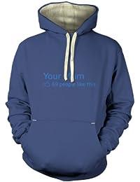 Deine Mama sozialer Status T-Shirt für Erwachsene Prämiekapuzenpullover für Erwachsene