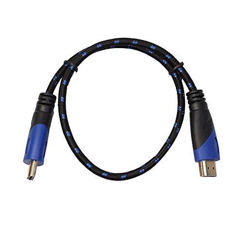 ndigkeits-HDMI-Kabel, 0,5 - 5 m, Stecker auf Stecker, V1.4, 1080p, AV 3D, für PS3, Xbox HDTV 0.5m Blue&Black rot ()