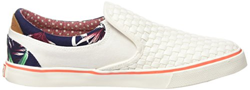 Wrangler Damen Icon Slip On Sneakers Weiß (98 Bianco Sporco)