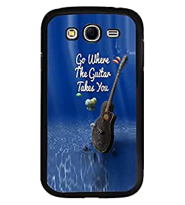 Fuson Premium Guitar Takes You Metal Printed with Hard Plastic Back Case Cover for Samsung Galaxy Grand Neo i9060