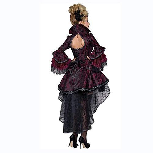 Kostüm The Queen Of Dance - PIN Halloween Kostüme Damen Halloween Hexenkostüm Vampir Zombie Kostüm Demon Queen Outfit Makeup Dance Kostüm,L