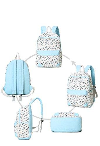 Sacchetto di tela di canapa / sacchetto di spalla del allievo della scuola media / versione coreana femminile dell'onda del Giappone e del Sud Corea zaino del calcolatore / ( Colore : Verde ) Blu