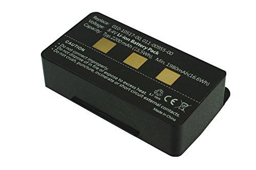 Power Smart® GPS batería 2200mAh para Garmin GPSMAP 276, GPSMAP 276C, GPSMAP 296, GPSMAP 376, GPSMAP 376C, GPSMAP 378, GPSMAP 396, GPSMAP 478, GPSMAP 495, GPSMAP 496