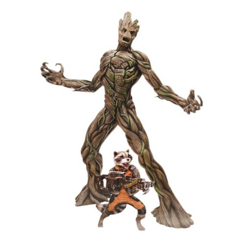 Dragon Models - Dm38131 - Figurine Cinéma - Rocket Racoon Et Groot - Action Vignette - Echelle 1/9