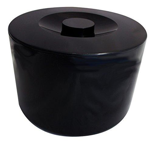 MeinTablett Eiswürfeleimer, Eiswürfelbehälter, Eiskühler, Eiskübel, Eiseimer 6 Liter mit Deckel und Sieb schwarz
