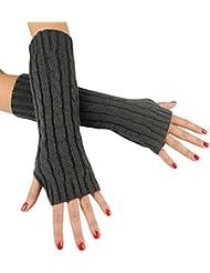 Immerschön Gestrickte Armstulpen zum Lagenlook, fingerlos, Damen Accessory