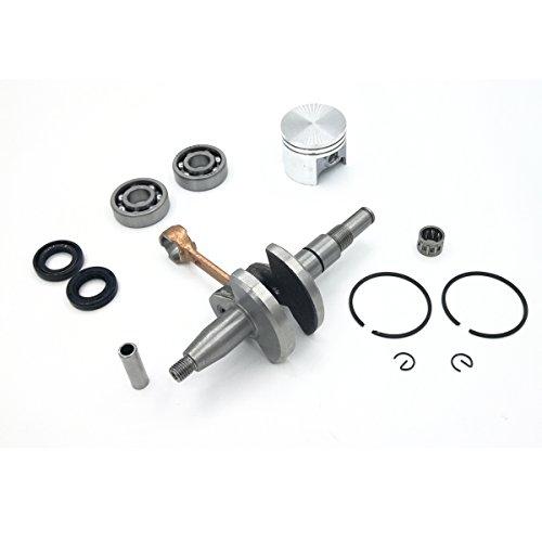 Kurbelwelle Kurbel Kugellager Oil Seal & 38mm Kolben Replica Ringe Kit für Stihl 018MS180Kettensägen Motor Motor Teile (Kugellager Motor)