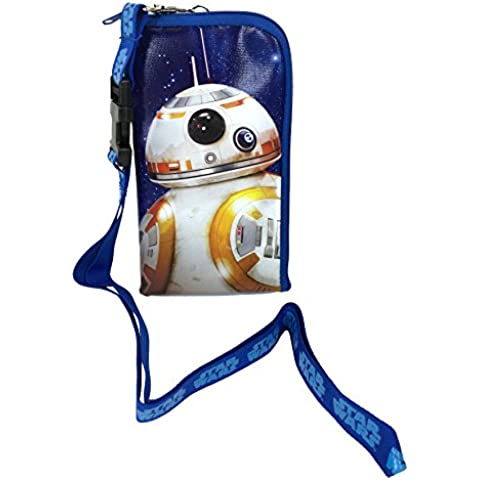 Star Wars The Force Awakens Storm Trooper Keychain Lanyard Id Ticket Holder for Most Phones- Black (BLUE-BB8) by Disney - Holder Keychain