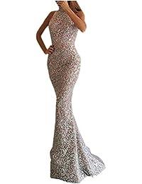 LANSKRLSP Elegante Vestito Dorato Lustrini Cerimonia Vestiti da Cerimonia  Corti Le Donne Sexy Moda Maniche Lunghe 107bc1f3a38