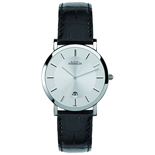 Michel Herbelin Classic Men's Watch black/silver 413/11