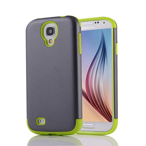 YHUISEN Galaxy S4 Case, 2 In 1 PC + TPU Dual Layer Armor Hybrid Schutz Schock Absorption Hard Back Cover Fall für Samsung Galaxy S4 I9500 ( Color : Gray Green ) Gray Green