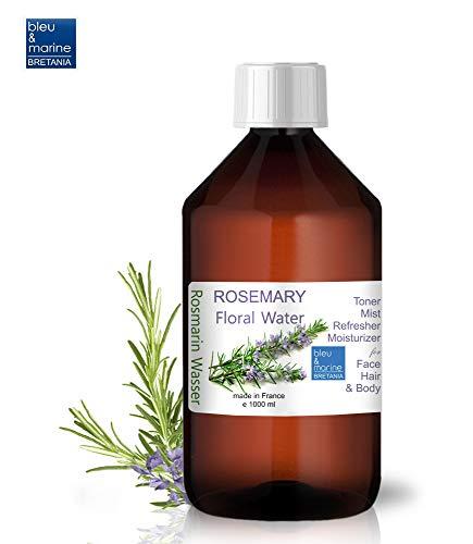 Rosmarinhydrolates Pure Rosmarinwasser Hydrolat Wasserdampf Destillat Gesichtswasser antibakteriell Haar Spray 1000 ml
