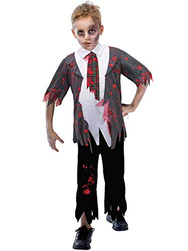 BOYS ZOMBIE SCHOOL BOY COSTUME - X-LARGE (11 - 12 YEARS)
