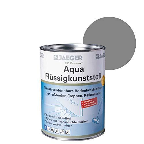 Jaeger Kronalux Aqua-Flüssigkunststoff, Bodenbeschichtung auf Wasserbasis (750 ml, kieselgrau (7032))