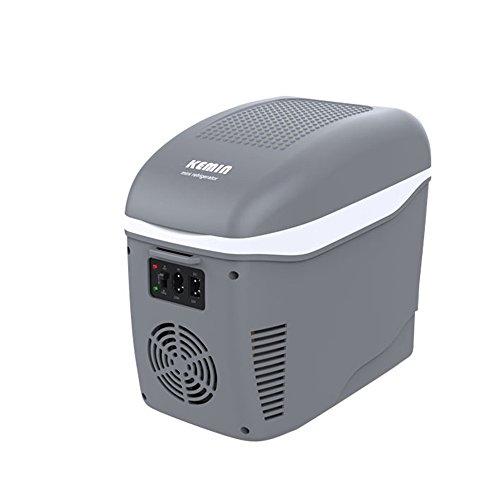 Bingxiang HAIZHEN Mini-Kühlschränke 7.5L Portable 6 kann Minikühlschrank-Kühler und Wärmer für Haus, Büro, Auto oder Boot AC & DC, Weiß - 110V 38W (Farbe : Grau) (110v Dc-heizungen)