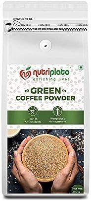 Nutriplato-enriching lives Green Coffee Beans Powder 300 g-Weightloss Management ; Source of Antioxidants ; In