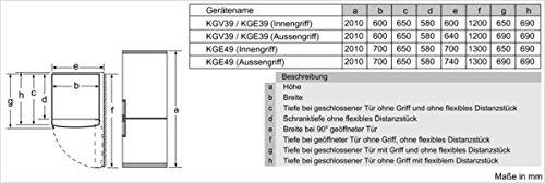 Bosch KGE39AI40 Serie 6 Kühl-Gefrier-Kombination SmartCool / A+++ / Kühlen: 247 L / Gefrieren: 89 L / Edelstahl / Anti-Fingerprint