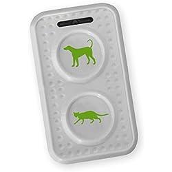 Isotronic - Ahuyentador de Gatos para perros,/Portátil con por ultrasonido para Granero, Jardín, Auto y Garaje, especialmente alta frecuencia de cambio de tonos, funciona con pilas (1)