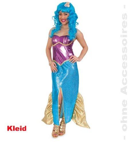 Meerjungfrau MERMAID Nixe 40 Damenkostüm Damen Kleid