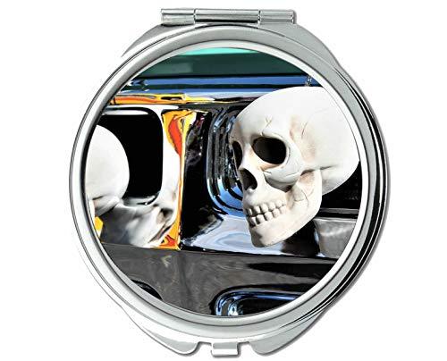 Yanteng Spiegel, kosmetikspiegel, schädel Halloween Kofferraum oder behandlung, taschenspiegel, 1 X 102X Vergrößerung