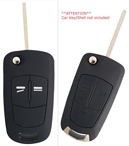 ssel Hülle Key Cover Case Etui Silikon für Corsa C Agila Vectra C Tigra Zafira Astra H Signum Meriva Combo - Schwarz ()