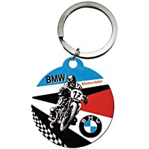 Nostalgic Art 48017 BMW motos, llavero redondo, 4 cm
