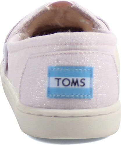 Toms Tiny Classic 13001d10, Scarpe Unisexe Bambino Rose Métallisé Tissé / Shearling
