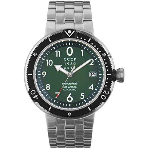 CCCP Men's KashalotSubmarine 47mm Steel Bracelet Automatic Watch CP-7004-44