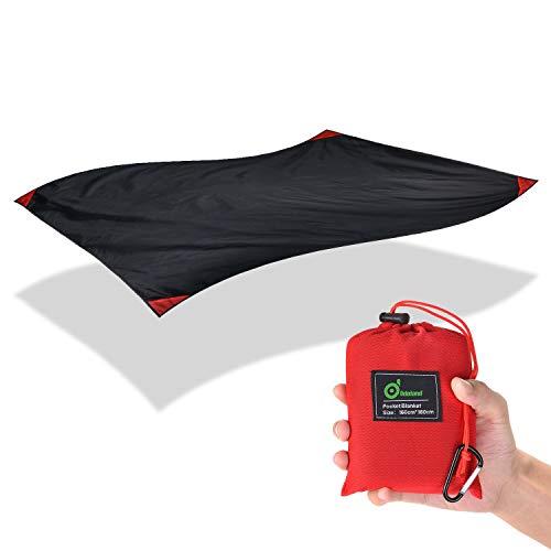 Odoland Picknickdecke 180 x 160 cm Stranddecke wasserdichte sandabweisende Strandtuch Camingmatte Ultraleicht kompakt für Park BBQ, Strand, Reisen, Camping und Picknick