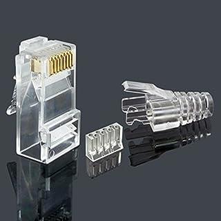 CAT6 3-teiliger Kristall Ungeschirmter RJ45-Steckverbinder UTP 8P8C Modular Network Plug Connector 50 Sätze (3pcs/set)