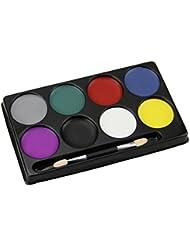 Peinture à Huile/Palette pour Visage Maquillage Corporel 8 Couleurs Professionnel Halloween Spécial Fêtes Carnaval Déguisement Sans Toxique Ecologique