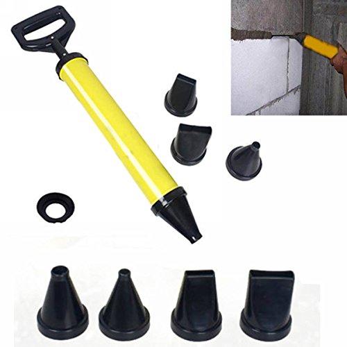 Fugenpistole für Mörtel Handmörtelpumpe mit Zubehör- Mörtelpresse Mörtelspritze + 4 Düse -