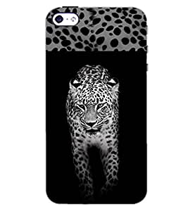 PrintDhaba TIGER SHADE D-6172 Back Case Cover for APPLE IPHONE 5 (Multi-Coloured)