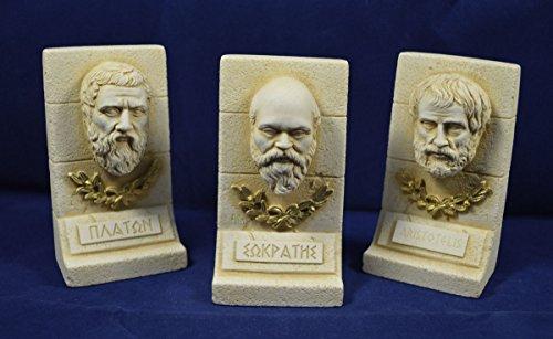 Sokrates Plato Aristoteles Skulptur Set antike griechische Philosophen - Griechische Skulptur