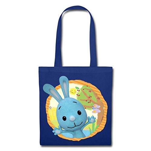 Spreadshirt KiKANiNCHEN Kaninchen Sommertag Am See Stoffbeutel Royalblau