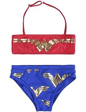 Wonder Woman 2200002751 Costume due pezzi, Bikini, Bambina, Multicolore