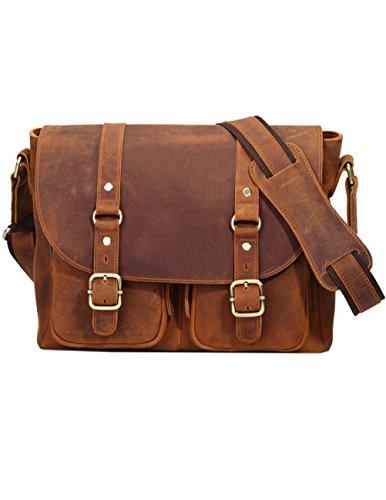 Menschwear Borse a tracolla di borse della borsa della borsa di cuoio delle donne Marrone Marrone
