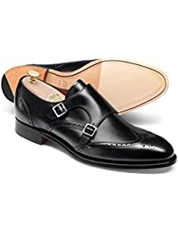 Black Made In England Double Buckle Monk Shoe by Charles Tyrwhitt