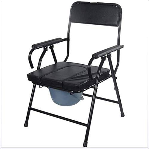 DONG Drop-Arm-Kommode Tragbarer Nachttisch-Kommode-Stuhl Professioneller Rehabilitationsstuhl für medizinische Hilfe, Stuhl-Kommode-Toilette Zur alleinigen Verwendung oder mit Toilette