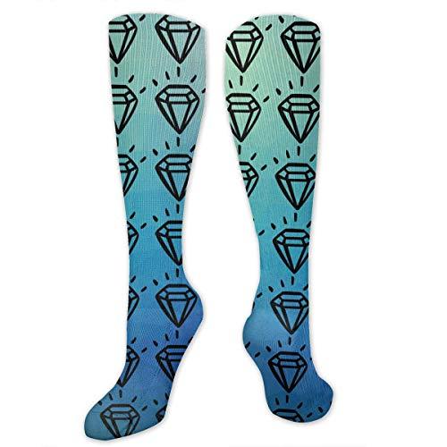 e behalten Ruhe und funkeln Kompressionsstrümpfe Sport Sportstrümpfe Schlauchstrümpfe Lange Socken Lustig ()