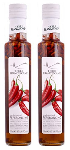 2er Pack Terre Francescane - Chili-Öl - Extra Natives Olivenöl mit Chili (2 x 250 ml)