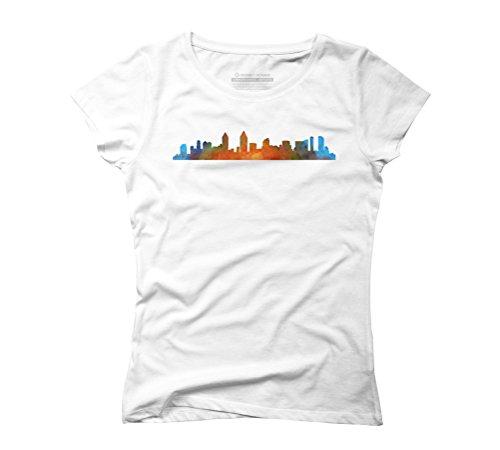 Design By Humans Damen T-Shirt Weiß