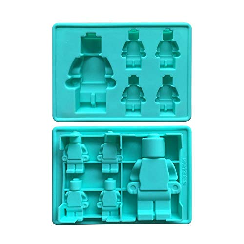 3D Silikon Backform, 5 Tassen Abbildung Roboter Silikon Schokoladenform, Eiswürfelschale Kuchen Gelee Silikon Aroma Gipsform Für Lego