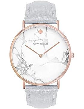 Damenuhr Armbanduhr Trenduhr Marmor Marble Farben Rosegold Rose Gold + verschiedene Armbandfarben Beige Braun...