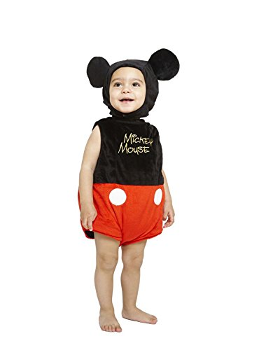 Maus Baby Kostüm - amscan Disney Baby DCMIC-TA-03 - Kostüm - Micky Maus - Fleece Spieler mit Kapuze, rot