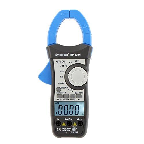ZoPhor (TM) nuovo 1000A rms auto gamma Condensatore temperatura 6000Counts W/Dual Retroilluminazione LCD multimetro HoldPeak HP-870N digitale morsetto