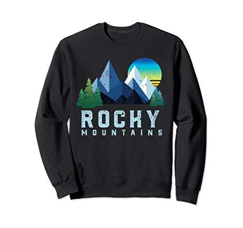 Vintage Rocky Mountains Retro Nationalpark Geometrisch Sweatshirt -