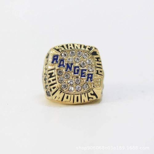 CWHao-Rings Sportfans Kollektion Champion Rings Fans Herren Memorial Rings High-End Kollektionen Fans Alloy Rings Herren Accessoires Vintage Accessoires, Gold, 9